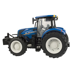 Britains Big Farm 116 New Holland T7.270 Tractor With Realistic Lights And Toy