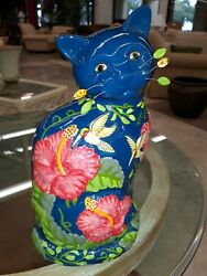 Cat Vase Floral Designed By Teodoro For Whimsi Clay 2004amy Lacombe