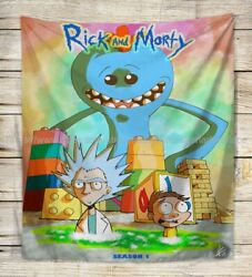 hippie wall art trippy psychedelic rick morty wall tapestry
