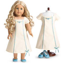 American Girl Caroline Nightgown Nightie Slippers Cecile Marie Grace No Doll