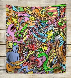 cheap house decor trippy psychedelic rick morty wall tapestry