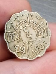 1938 I 4 Fils Km 105a Bombay Dinars Middle East Coin From Kayihan 28