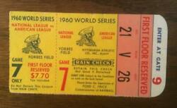 1182----1960 World Series Game 7 Ticket At Pittsburgh - 3rd Base Reserved Seat
