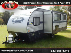 20 Forest River Cherokee Wolf Pup 18TO RV Camper Towable Travel Trailer 1 Slide