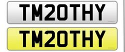 Private Number Plate Timothy Tm20thy Tim Tim Timothy Name
