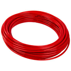 Hard Sever-temperature Red Chemical Tube Inner Dia 7/16 Outer Dia 9/16 - 25ft