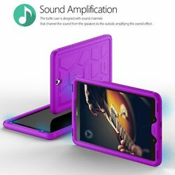 30pcs Galaxy Tab S3 9.7 TabletCase[Grip&DropProtection]SiliconeCover Purple
