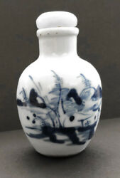 Vintage 19th Century Chinese Blue And White Porcelain Snuff/medicine Bottles