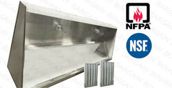 9and039 Ft Restaurant Commercial Kitchen Type I Exhaust Hood Low Profile Sloped Front