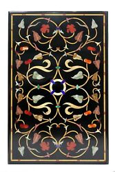 Marble Top Dining Table Designs Inlaid Semi Mosaic Collectible Stone Gift