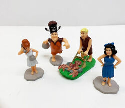 Vintage Applause Flintstone Pvc Figures Toys Wilma Betty Fred Bowling Barney