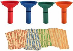 Easy Wrap 4 Coin Tube Set With 110 Wrappers Included - Funnel Shaped Color Coded