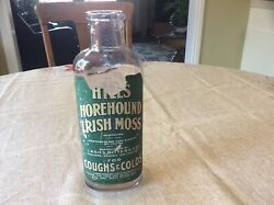 Lashs Bitters Co Irish Moss Horehound Coughs/colds Paper Label Bottle. 10 Rare
