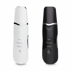 Electric Ultrasonic Facial Skin Scrubber Cleaner Fade Fine Lines And Weinkles