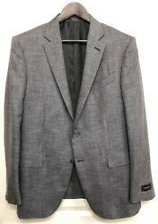 Nwt 3250 Recent  Gray Wool And Silk Suit 46r / 56r