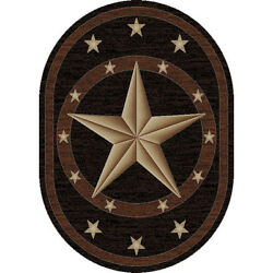 5x8 5and0393 X 7and0393 Oval Texas Star Cowboy Western Area Rug Free Shipping