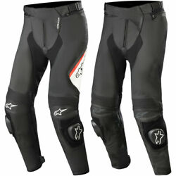 New Mens Alpinestars Missile Airflow V2 Leather Motorcycle Pants - Size/color