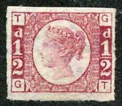 Sg49a 1/2d Gt Plate 1 Imperf Stunning Colour Superb Mint With Big Margins