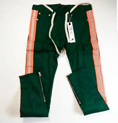 Eternity Bc/ad Men 100authentic Long Pants Lined Striped Size 34 Green