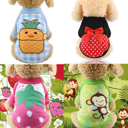 Pet Dog Clothes for Small Dog Fruit Print Sweater Puppy Chihuahua Winter Warm $3.29
