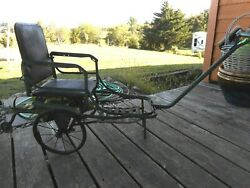 Antique Rare Baby Stroller Pram Vintage Buggy Wheels Collapsible Pull 1910's