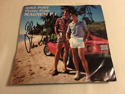 Tom Selleck Autographed Cover 1982 Elektra Magnum Pi Record W/coa Extremely Rare