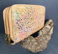 Ladies Purse Wallet Cork Big Wallet Vegan