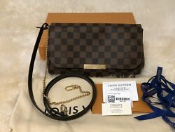 NEW 2019 RARE Louis Vuitton Damier Ebene  FAVORITE MM Crossbody Bag