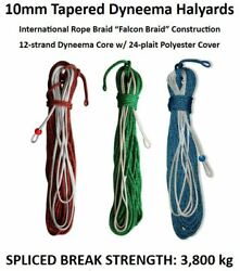 10mm Tapered Spectra Dyneema Yacht Halyard Or Sheet Custom Lengths And Colours