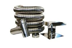 Stainless Steel Flexible Standard Chimney Liner Kits, Available In Various Sizes