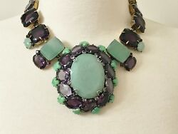 Spectacular Iradj Moini Amethyst And Large Aventurine Necklace / Brooch