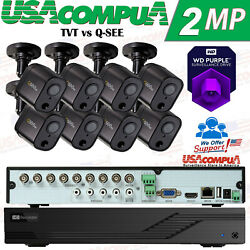 Tvt Vs Q-see Security System 8-ch 1080p Motion Activated Cameras Hdd Included