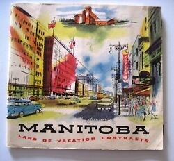 Charming Vintage Travel Booklet Manitoba W/ Watercolor Type Pictures