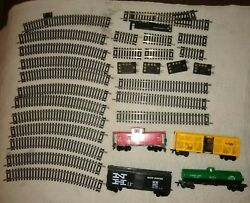 Lot Rolling Stock Nickel Silver Ho Train Atlas Snap Track Switch-terminals-track