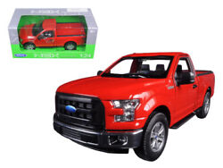 2015 Ford F150 Regular Cab Pickup Red 124 Diecast Model - Welly 24063rd