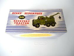 Dinky Meccano Recovery Tractor 661 -- Dinky Supertoys Military 1957