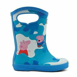 Hunter® PEPPA MUDDY PUDDLES Rain Boots Forget Me Not Blue Size 8