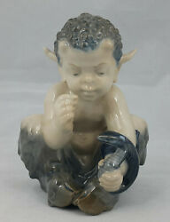Royal Copenhagen Figurine Fawn And Snake By Christian Thomson Model No. 1712