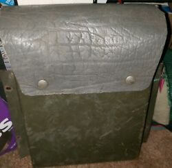 Vintage Antique Mb Gpw Willys Ford Wwii Document Holder Leather Topped Snaps Bin
