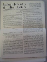 National Fellowship Of Indian Workers - 6 Issues - 1958-1964 Christian Magazines