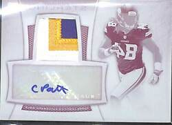 2013 Bowman Sterling Printing Plate Autograph Bsar-cp Cordarrelle Patterson