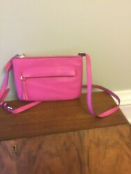 Vince Camuto pink leather shoulder cross bag $28.00
