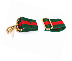 Green Striped Purse Strap Crossbody Shoulder Replacement Bag Guitar Style Strap $35.49