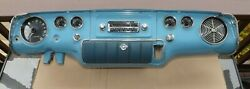 1955 Plymouth Savoy Dash Frame Assembly With Chrome Radio Speaker And Gauges Oem