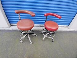 Vintage Dental Chairs Swivel Stools - Dentists Doctors Operation Seats