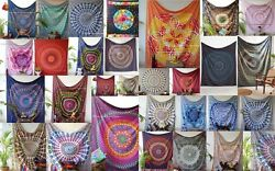 Wholesale New- Assorted 50 Pc- Cotton Hippie Wall- Tapestry Bed Cover Dorm-Decor