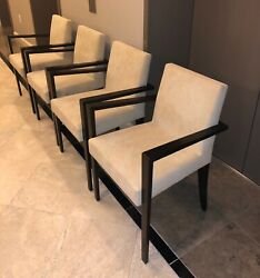 Ligne Roset French Line Dining Chair With Arms In Alcantara 6 Available