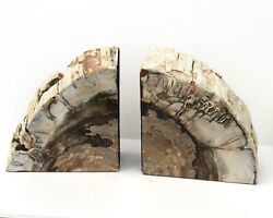 Fossilised Wood Book Ends From Madagascar