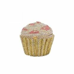 Cupcake Crystal Clutch Evening Clutches Bags Wedding Party Bridal Diamond Min... $105.66