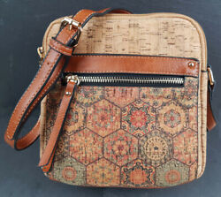 Small Cork Ladies Shoulder Bag Crossbody Clutch Handbag Vegan